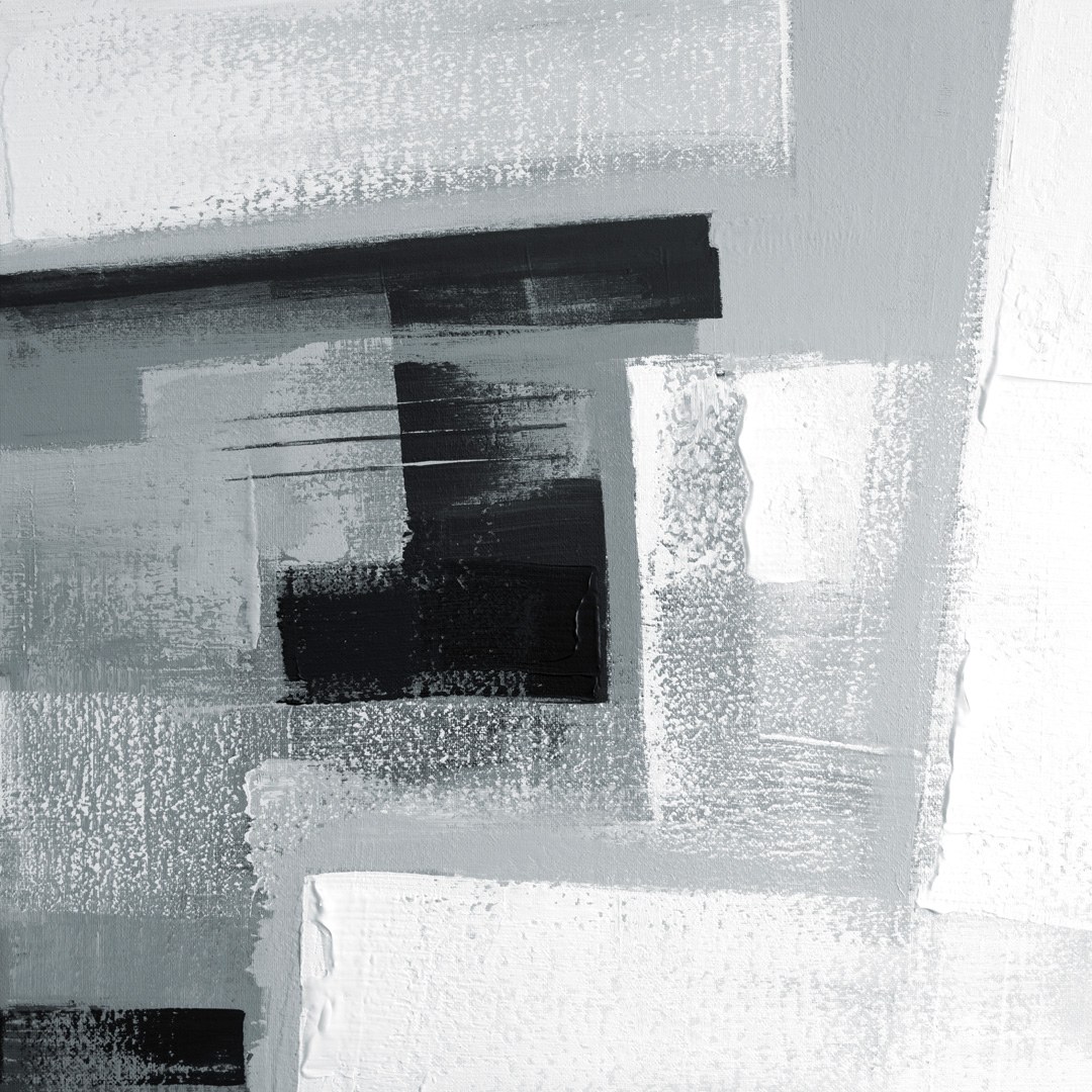 Diptych Black and White 072020 02, Acrylfarbe auf Leinwand, 80 x 80 CM., 2020, © Ernest Bisaev