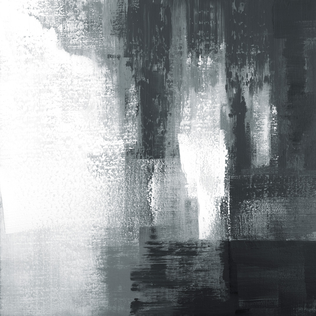 Diptych Black and White 07102003, Acrylfarbe auf Leinwand, 100 x 100 CM., 2020, © Ernest Bisaev