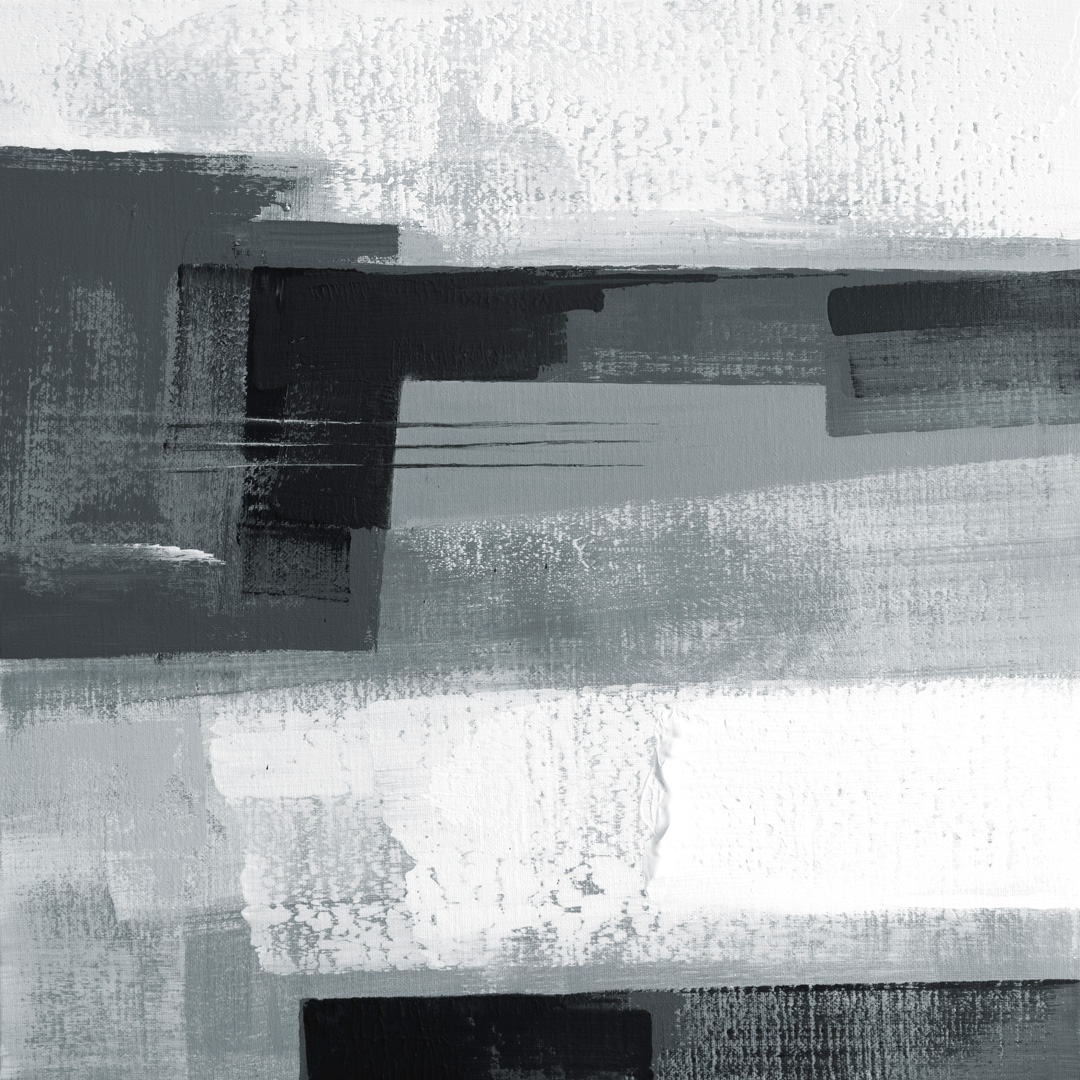 Diptych Black and White 072020 01, Acrylfarbe auf Leinwand, 80 x 80 CM., 2020, © Ernest Bisaev